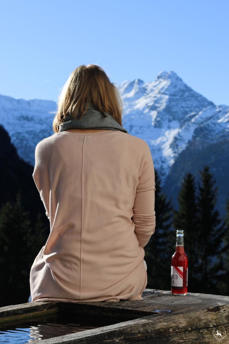 Berge und Simply Iced Tea