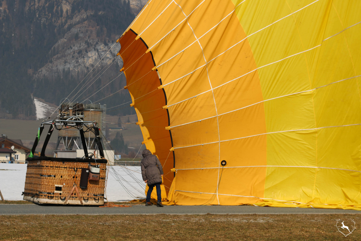 Ballonfahren im Winter