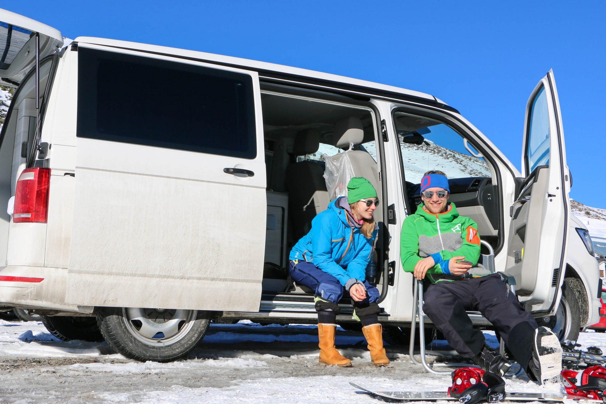 Winter-Camping und #vanlife